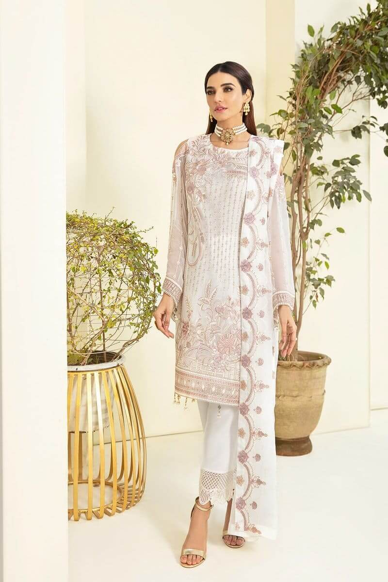 Ramsha Chevron Chiffon Vol 3 Designer Pakistani Suits A-304