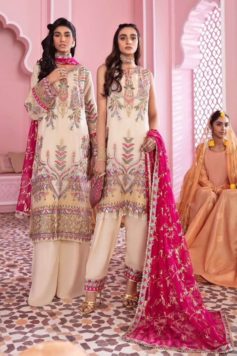 Iznik Banaras Chiffon Collection 2021 Pakistani Suits IB-01