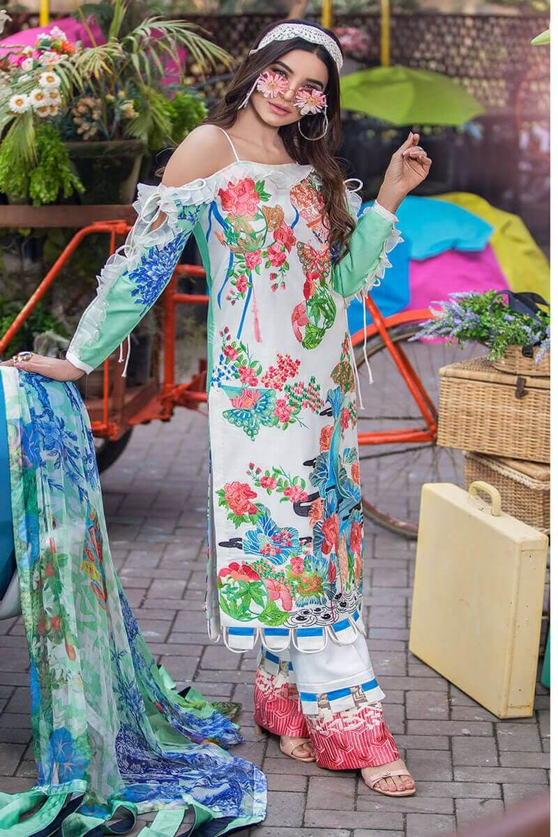 Liliana Lawn Spring Collection 2021 by Asifa Nabeel Nora LA-2