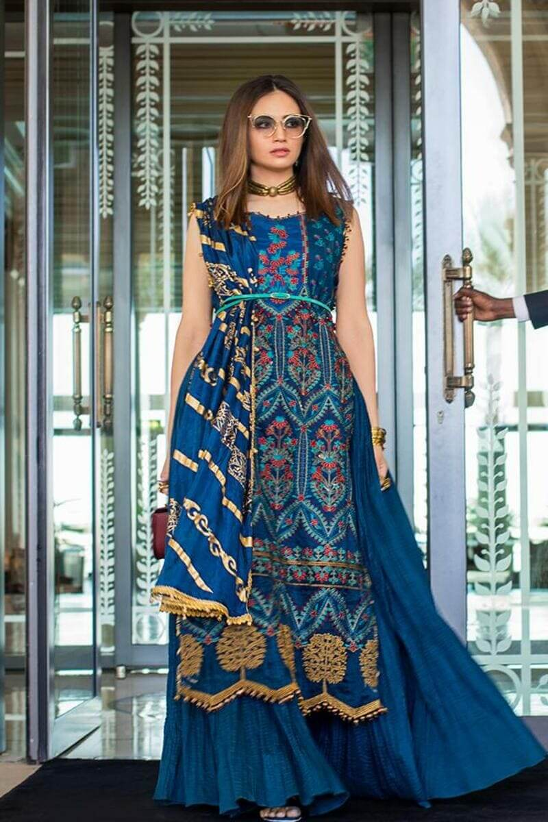 Mahiymaan Lawn Collection 2021 by Al Zohaib Pakistani Suits ML-02