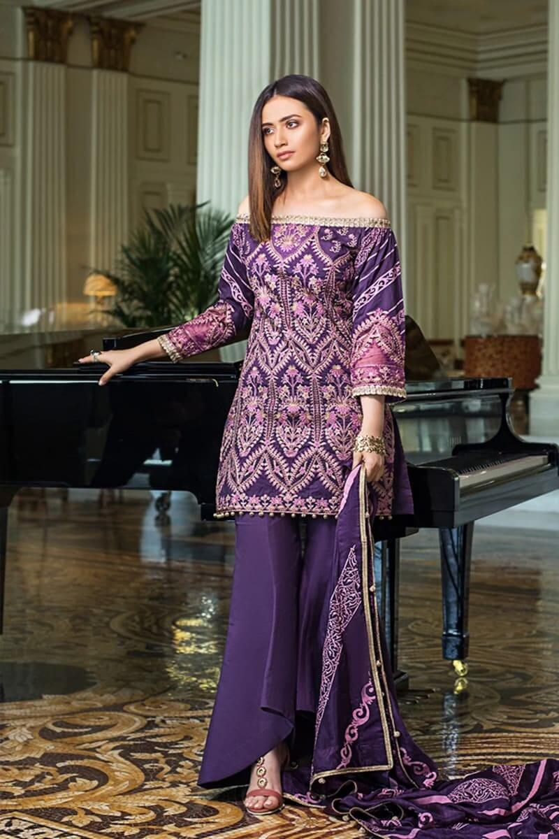 Mahiymaan Lawn Collection 2021 by Al Zohaib Pakistani Suits ML-02B