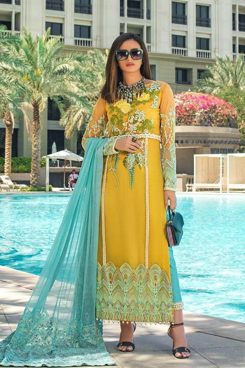 Mahiymaan Lawn Collection 2021 by Al Zohaib Pakistani Suits ML-08
