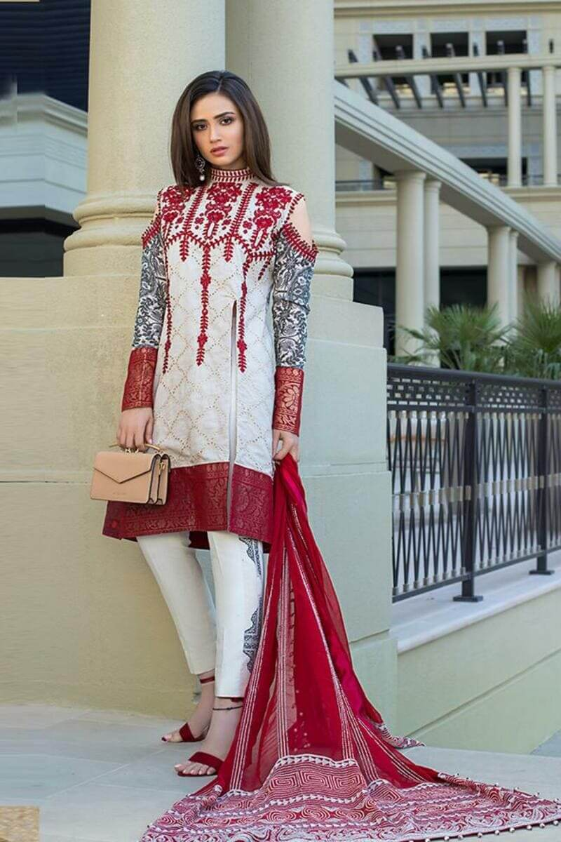 Mahiymaan Lawn Collection 2021 by Al Zohaib Pakistani Suits ML-09