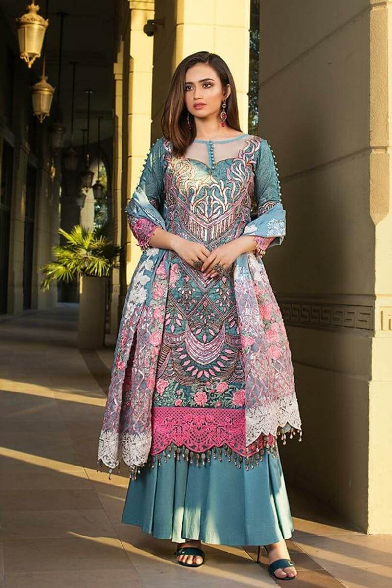 Mahiymaan Lawn Collection 2021 by Al Zohaib Pakistani Suits ML-11