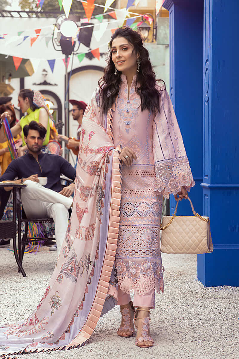 Mushq Lawn Collection 2021 Summer Suits MLL-01 CHINTZ ROSE