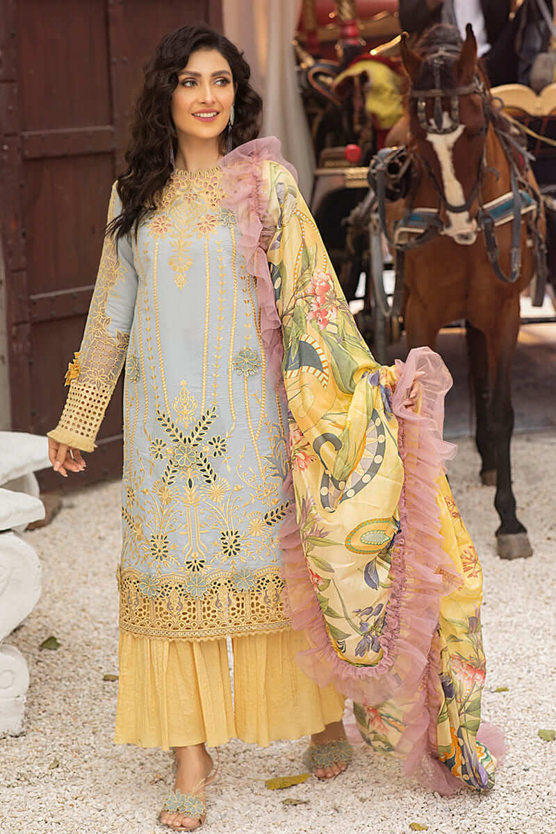 Mushq Lawn Collection 2021 Summer Suits MLL-06 LIMELIGHT