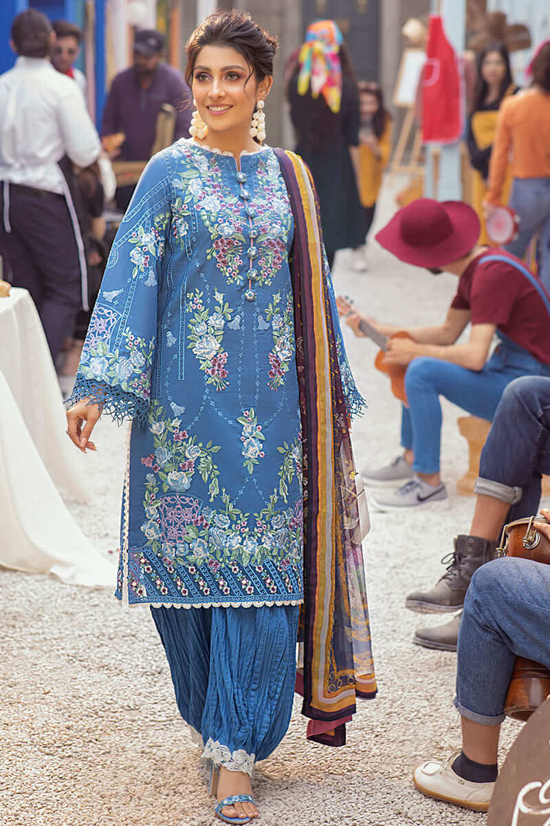 Mushq Lawn Collection 2021 Summer Suits MLL-10 BLUE HEAVEN
