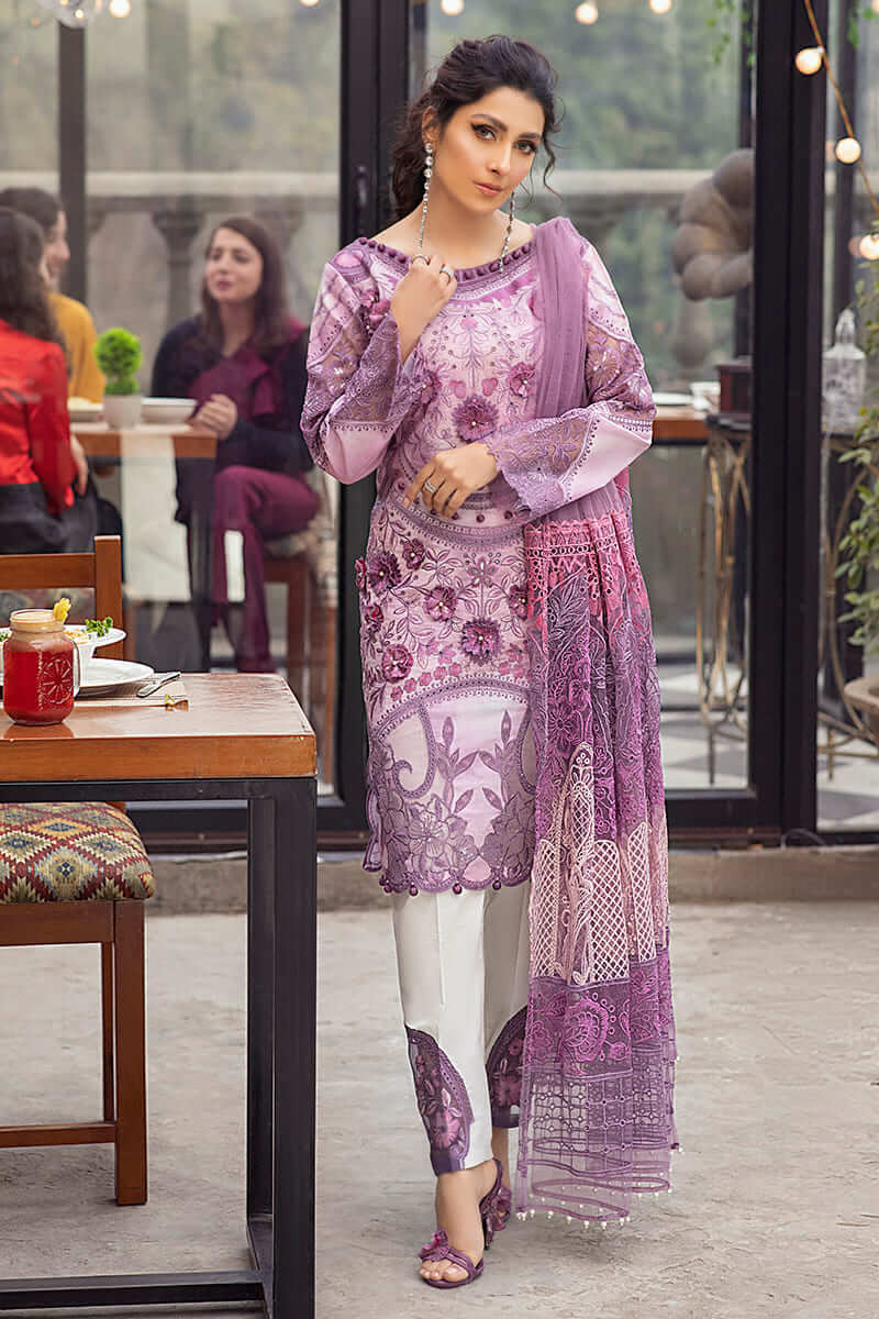 Mushq Lawn Collection 2021 Summer Suits MLL-13 MAUVE ORCHID