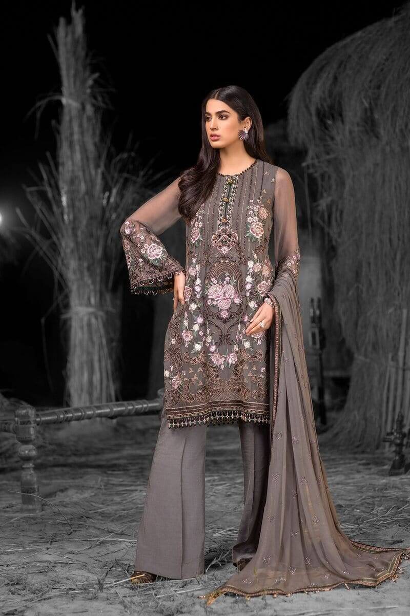Flossie Safeera Luxury Chiffon Vol-7 Pakistani Suits S-705