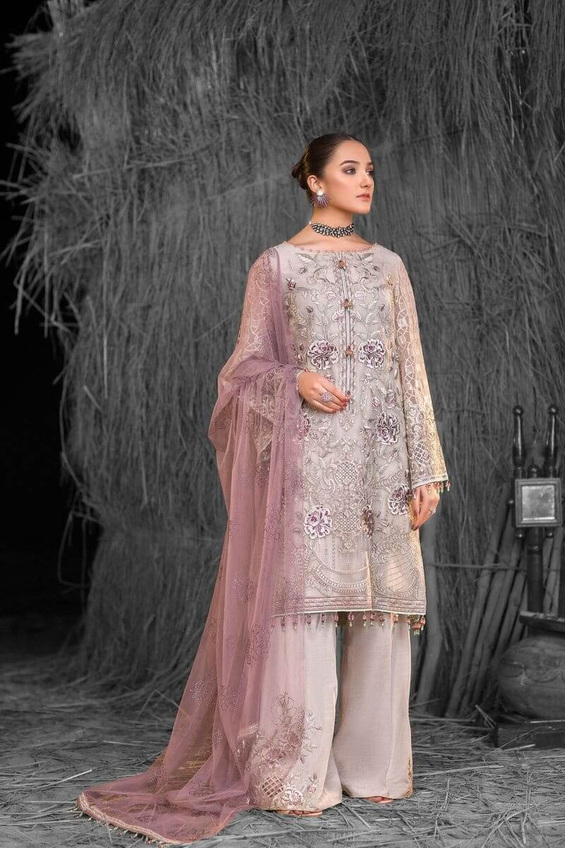 Flossie Safeera Luxury Chiffon Vol-7 Pakistani Suits S-710