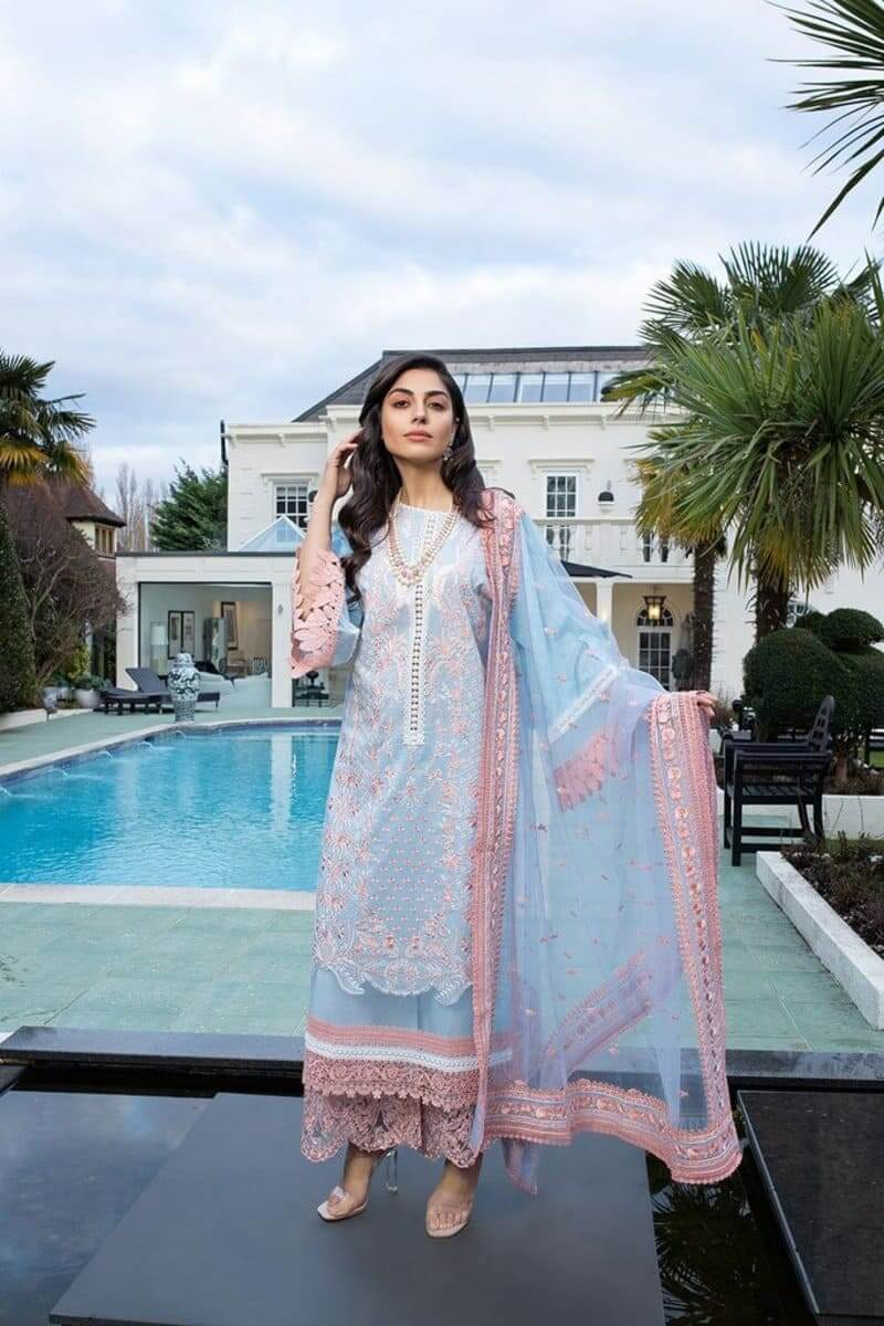 Sobia Nazir Luxury Lawn 2021 Pakistani Suits Design 12A