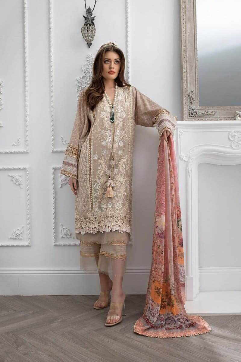 Sobia Nazir Luxury Lawn 2021 Pakistani Suits Design 7A