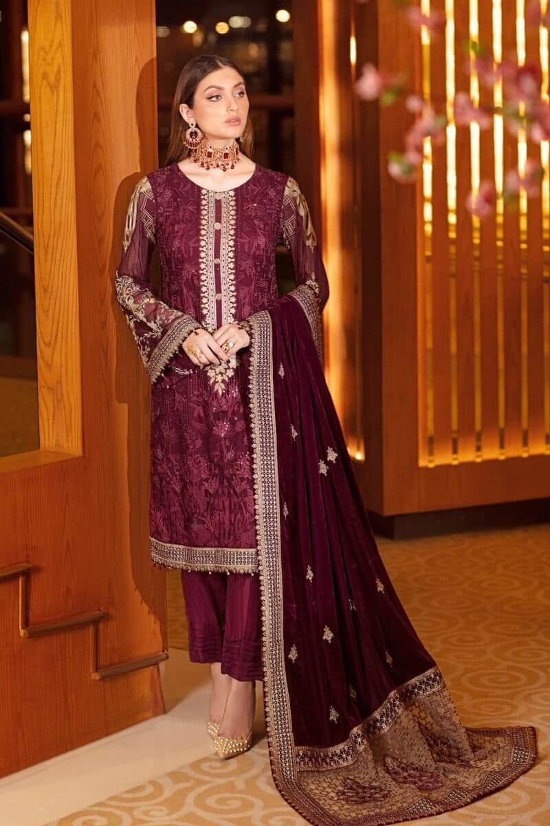 Ramsha Velvet Collection Vol 3 Pakistani Suits V-304